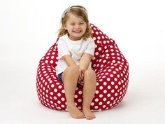 Available in Aqua and Red, these cute teardrop shape polkadot beanbags for kids are made with cotton. A removable inner liner makes washimg by hand or machine a breeze Kids Bean Bags, Breeze, Bean Bag Chair, Aqua, Polka Dots, Shape, Cute, Cotton, Red