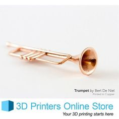 The 3D Printed Copper parts that i.materialise makes come in their natural reddish color and the company claims to post process these parts with polishing them magnetically and with hand. They also provide options to their customers to PU coat their parts with clear material which makes it scratch resistant.  #3dprinter#3dprinting#3dnews#3dprintersonlinestore by 3dprintersonlinestore