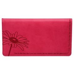 Psalm 118:24 Pink Checkbook Cover  Price : $9.99 http://www.veritasgifts.com/Psalm-118-Pink-Checkbook-Cover/dp/B00A805BPG