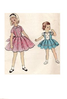 1950s Girl's Holiday Easter Party Dress by AdeleBeeAnnPatterns
