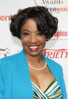 African American curly bob hairstyle