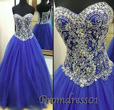 Elegant navy blue tulle long poofy prom dress with beautiful top details, 2016 sweetheart ball gown for teens Prom Dresses For Teens Long, Ombre Prom Dresses, Emerald Prom Dress, Red Lace Prom Dress, Prom Dresses 2017, Blue Evening Dresses, Prom Dresses Long With Sleeves, Beautiful Prom Dresses, Bridal Dresses