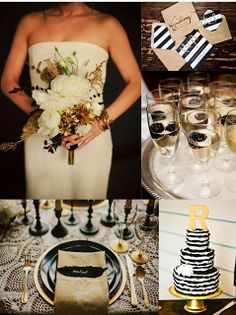 Frosted Pink Events: Glam Black and Gold Wedding Inspiration