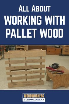 It takes a combination platter of tools to get a pallet apart, and it's more art than science. We'll show you how to use a flat bar, cat's paw, jig saw, and metal detector, along with a specialized tool; The Extractor. If you've found a successful way to get pallet wood out of pallets, please let us know in the comments section of this video.