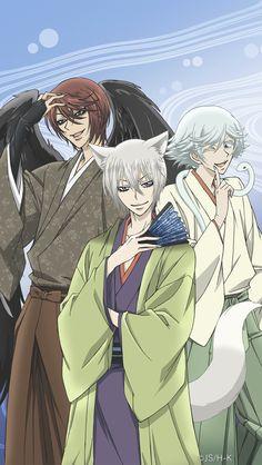 Tomoe, Mizuki and Kurama