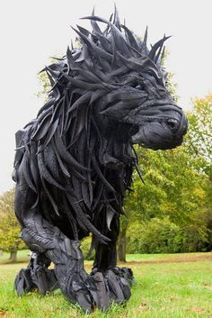 Made from tires by Yong Ho Ji. it's so awesome, rock amd bomb!!!!