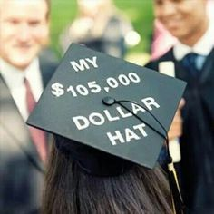 I didn't decorate my cap for either high school graduation, but after getting two bachelor's degrees, taking over 200 undergrad credit hours and over 150 graduate credit hours, I'm pretty sure my undergrad cap will NEED to have this! Funny Graduation Caps, Graduation Cap Designs, Graduation Cap Decoration, Graduation Diy, Graduation Quotes, Graduation Announcements, Graduation Invitations, Graduation Outfits, College Graduation Parties