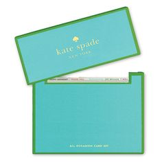 Kate Spade New York All Occasion Card Set.  This card set is simply fabulous and so useful when you need a last minute happy birthday, thank you, get well, etc.  They are so simply and elegant.  Available at www.studio3-19.com -Studio 3:19