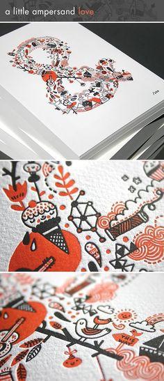 Gemma-Note:photo not linked, but love the pattern - Lovely letterpress goodness!