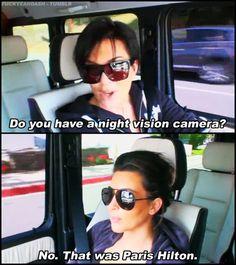 Kim's getting funnier.