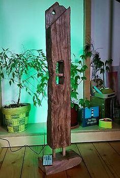 Stehlampe Leuchte Alt Eichenbalken LED Lampe Design Holzbalken Wohnung