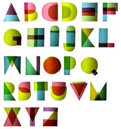 Geometric colourful font  - Typography