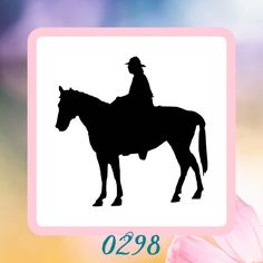 A personal favorite from my Etsy shop https://www.etsy.com/listing/207924341/horseback-riding-reusable-craft-stencil