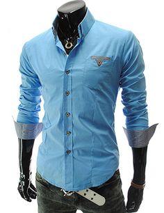 slim fit check patch pocket shirt
