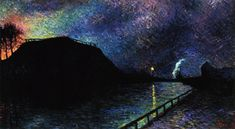 Maximilien Luce -  Moonlight on Charleroi Canal,1896
