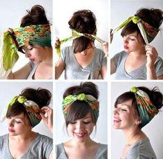 ТОП-12 простых способов, как красиво завязать платок и шарф на голове - Фото Креатив