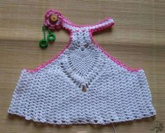 crochet baby tank top dress with pineapple stitch Crochet Bikini, Crochet Top, Tank Top Dress, Dress Hats, Little Girl Dresses, Beautiful Crochet, Crochet Dolls, Baby Hats, Baby Dress