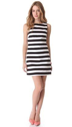 alice + olivia Striped A Line Dress