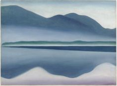Lake George (formerly Reflection Seascape) - Georgia O'Keeffe