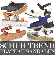 Shoe of the Moment: Plateau Sandalen mit fernöstlichem Touch, 70s-Flair und sportlicher Attitüde. Am schönsten lassen sie sich zu Schlag- hosen und Kleidern mit Blumen-Prints kombinieren. Hier kommen unsere 7 Lieblingsmodelle!