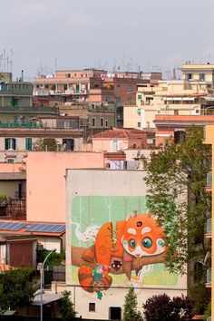 Street art work 'Red panda' by Dulk