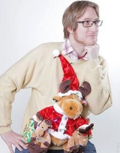 "15 Fantastically Ugly Holiday Sweaters | Mental Floss....usually I feel bad judging ""ugly"" sweaters cuz often someone worked hard to make them. But...sometimes there just isn't any way around it."