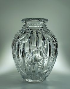 Val St Lambert Vase ADP7 - Catalogue Cristaux de Fantaisie 1926.