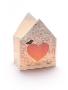 Lichtblick für laue #Sommer-Nächte: Bezauberndes #Windlicht mit #Herz und Vögelchen! #Liebe #love