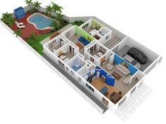 72 Best 3d House Plan Images On Pinterest 3d House Plans Floor