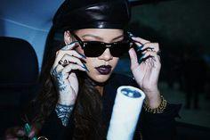 Rihanna attends the Christian Dior Fall 2017 fashion show