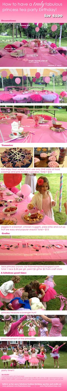 have a fabulous birthday princess tea party for girls for under $100  for more info: http://thesewingclass.com/fabulous-princess-tea-party-for-under-100/