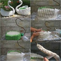 Easy and unusual container garden ideas DIY projects for decorating front yard. Tutorials to make DIY planters with recycled materials Easy Garden, Garden Art, Clever Diy, Easy Diy, Outdoor Projects, Diy Projects, Diy Plastic Bottle, Garden Architecture, Small Space Gardening