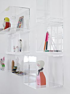 Acrylic shelves