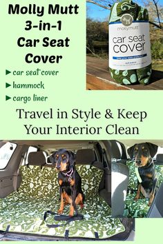 The Molly Mutt 3-in-1 Car Seat Cover will let you & your pets travel in style while keeping your interior clean (sponsored) Dog Products | Dog Mom Life | Traveling with Pets | Rescue Dogs