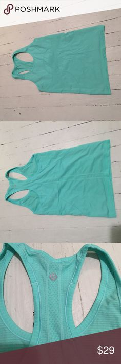 Lululemon swiftly tank size 6 I've worn this maybe 3 times no snags or pulls it's a gorgeous color size 6 again another hard one for me to part with!! lululemon athletica Tops Tank Tops