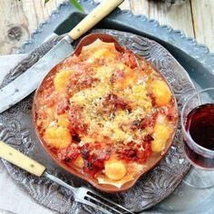 Gnocchi all´amatriciana   Mitt kök Gnocchi, Hawaiian Pizza, Bon Appetit, Mozzarella, Pesto, Quiche, Spaghetti, Cheese, Salta