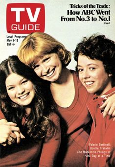 TV Guide May 1977 - Valerie Bertinelli, Bonnie Franklin and Mackenzie Phillips of One Day at a Time.