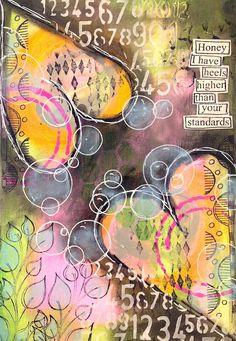 Nika In Wonderland Art Journaling and Mixed Media Tutorials Journal D'art, Art Journal Pages, Art Journals, Mixed Media Painting, Mixed Media Canvas, Mixed Media Art, Mixed Media Tutorials, Art Tutorials, Mix Media