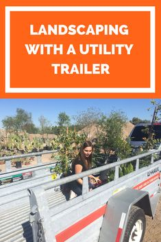 Getting ready to spruce up your yard? Our utility trailer can haul your tall and odd-shaped plants with ease! 5x8 Utility Trailer, Decorating Your Home, New Homes, Yard, How To Plan, Landscape, Plants, Patio, Scenery