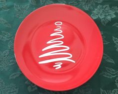 10 Ceramic plate with vinyl lettering. Giving Plate, Gifts Under 10, Plates, Unique Jewelry, Handmade Gifts, Etsy, Licence Plates, Kid Craft Gifts, Dishes