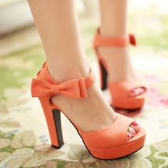 Summer Suede Pu Leather Ultra High Heels Platform Open Toe Sandals Women Thick Heel Sexy Cutout Bow Ankle Strap Shoes Pumps 43 SMS - Aliexpress
