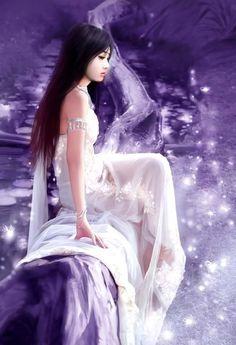Main Kyun khud Say Usay Pukaron Kay Lout Aao. Instagram 4, Chinese Painting, Shades Of Purple, My Favorite Color, Asian Art, Graphic Illustration, Fantasy Art, Fairy Tales, Disney Princess