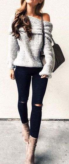 39b05c02c4e2 Casual Chic Outfit Ideas for Winter 2017 - 18