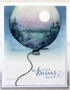 scenic balloon card by Birgit