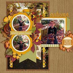 fall scrapbooking layout