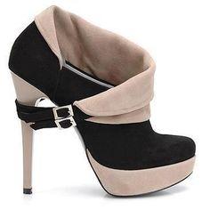 Black and beige high heel #shoe