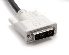 Apesar de raramente transmitir áudio, cabos DVI têm sinal digital (Foto: Reprodução/Wikimedia Commons) (Foto: Apesar de raramente transmitir áudio, cabos DVI têm sinal digital (Foto: Reprodução/Wikimedia Commons))
