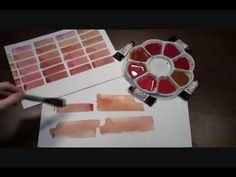 ▶ Painting out a Few Skin Tones with DANIEL SMITH Quinacridone Watercolors…