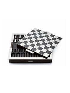 Ralph Lauren - Sutton Carbon Fiber Leather Chess Set