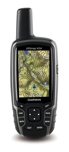 Compass, altimeter and wireless connectivity, plus a preloaded 100k topo map of the continental U.S.—Garmin GPSMAP 62ST GPS.